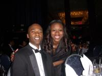 Tonnie Rozier and our CEO at The UNCF awards Gala 2010