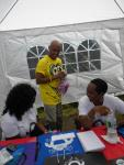 CEO and Elona Dotson of PPI share a laugh with Alex Brown of Sesame